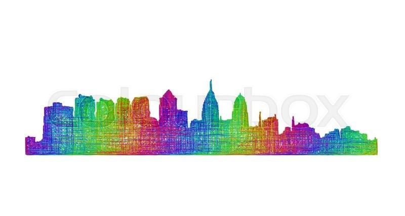800x427 Philadelphia City Skyline Silhouette
