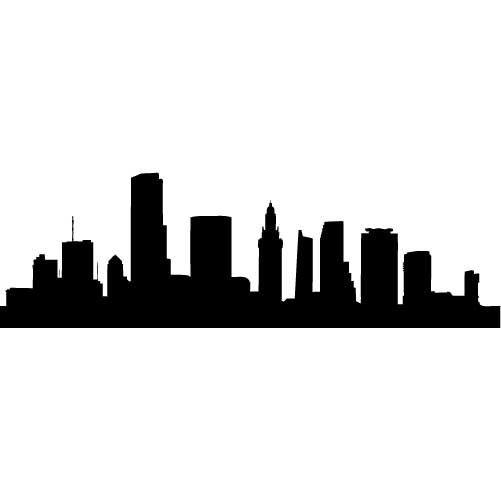 501x501 Miami Skyline Silhouette Xlarge Vinyl Wall Decal By Wallstickz