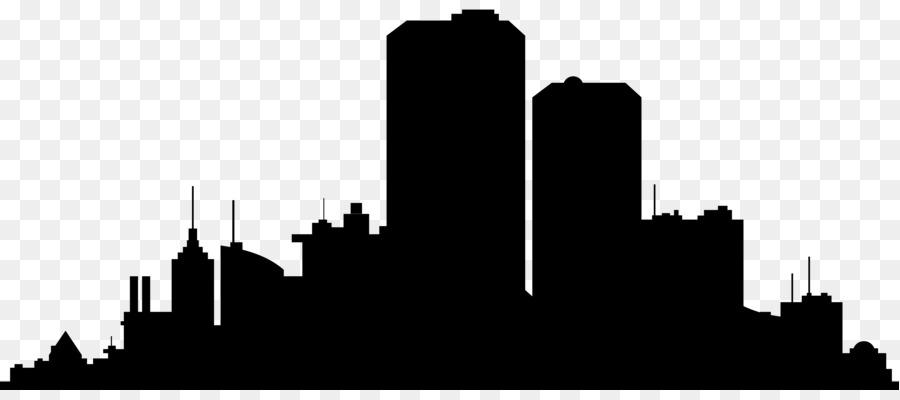 900x400 New York City Skyline Silhouette Clip Art