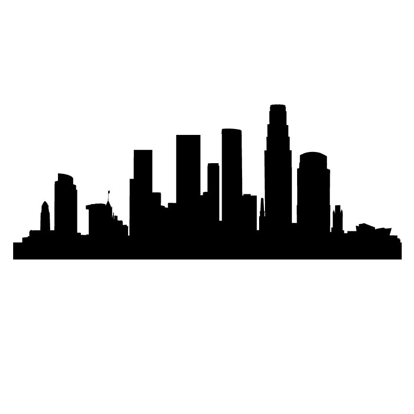 850x850 Modern Los Angeles City Skyline Design Save The Date