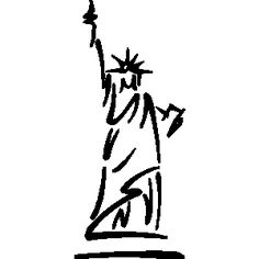 236x236 New York City Line Silhouette Typography Design