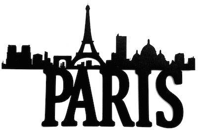 400x263 Paris Scrapbooking Laser Cut Title With City Line Scrapbooking