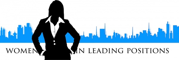 600x203 Businesswoman Silhouette Vector Illustration With City Background