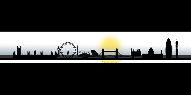640x320 London, Skyline, Silhouette, City, Cityscape, England Clipart