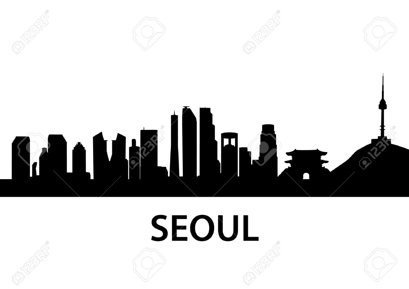 1300x918 Cityscape Clipart Seoul