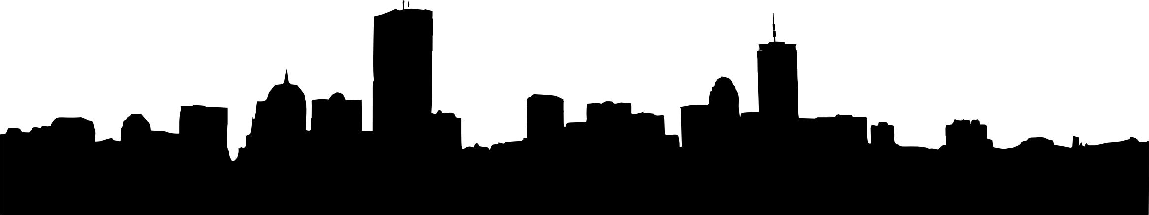 2334x438 Generic Cityscape Silhouette 4 Icons Png