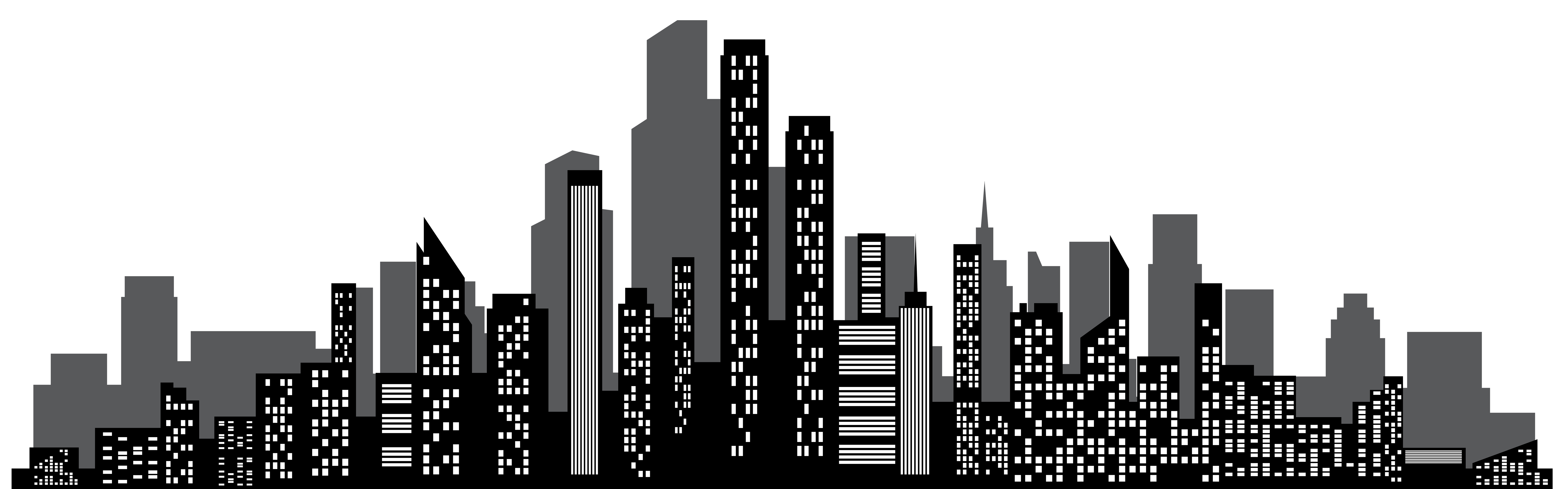 8000x2498 Cityscape Silhouette Png Clip Art Gallery Yopriceville