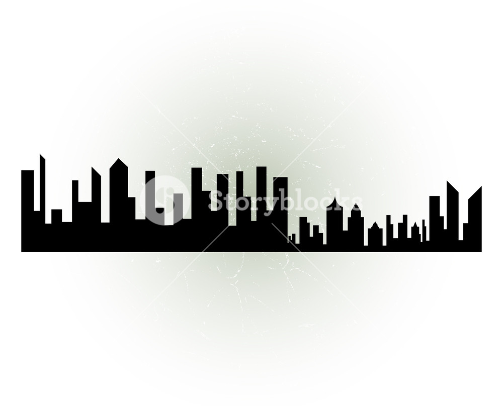 1000x808 Cityscape Silhouette Royalty Free Stock Image