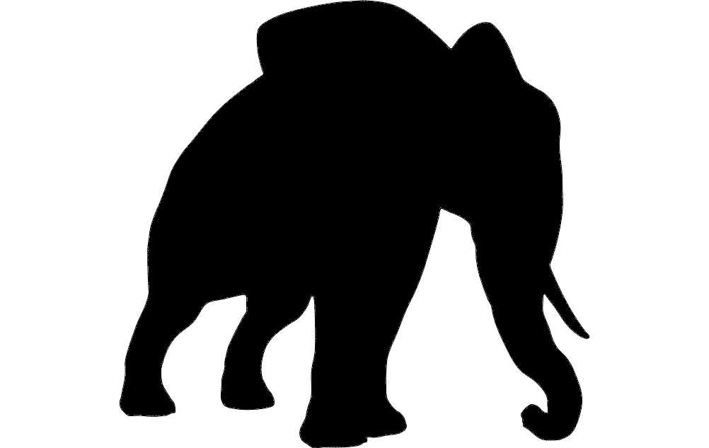 1002x633 Elephant Silhouette Dxf File Free Download