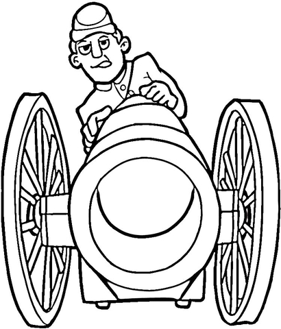 410x480 Fire From Cannon Coloring Page Free Printable Coloring Pages