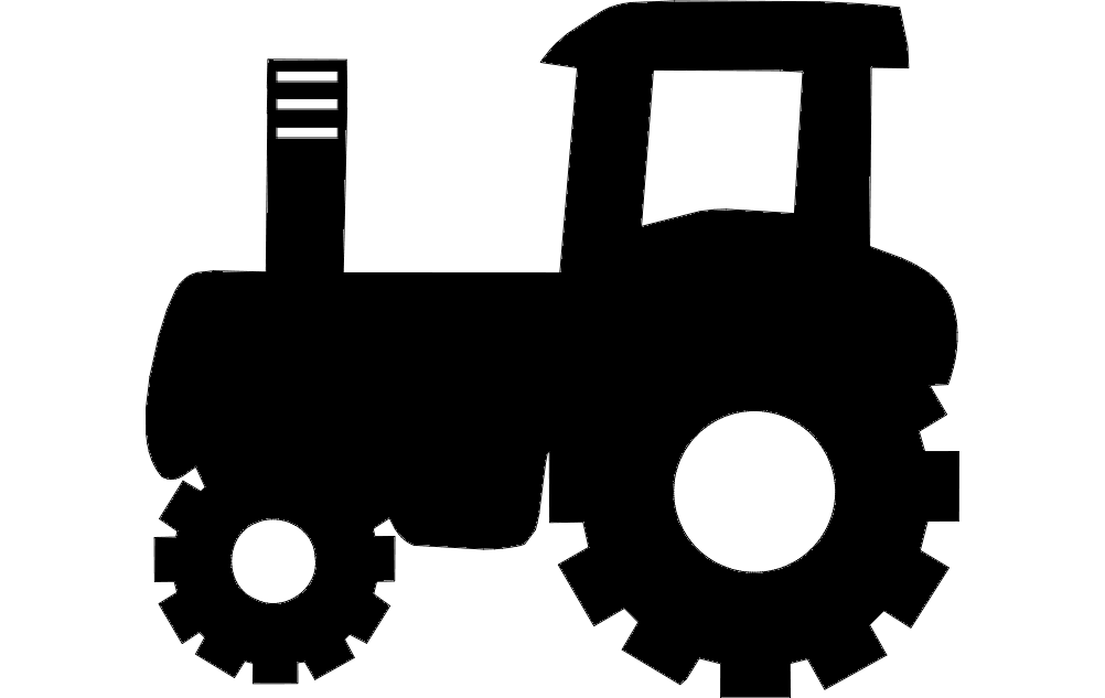 1002x633 Tractor Silhouette Vector Art Dxf File Free Download