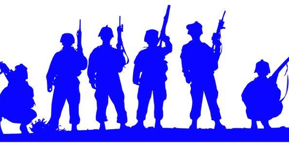 595x304 Patriotic, Loyal, Loyalty, Army, Patriotism, America, Silhouette