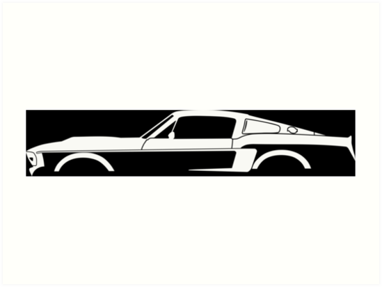 549x413 Car Silhouette For 1967 Shelby Mustang Gt500 Eleanor Enthusiasts