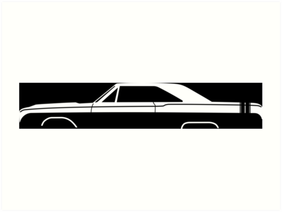 549x413 Car Silhouette For 1968 Dodge Dart Gts Enthusiasts Art Prints By