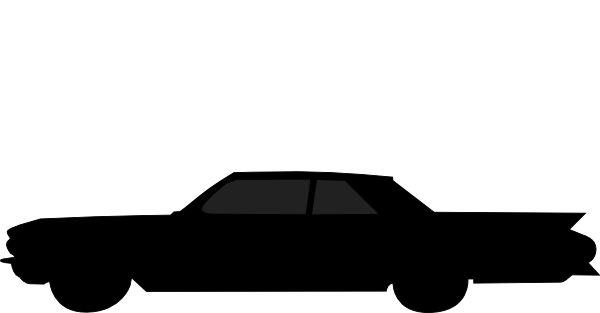 600x313 Old Car Silhouette Clip Art