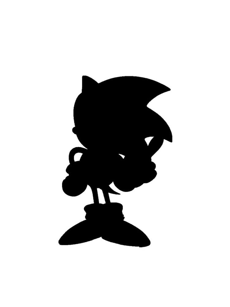 750x1000 Classic Sonic Silhouette