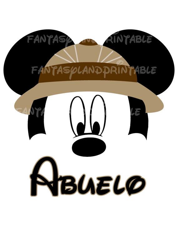 570x738 Mickey Mouse Safari Classic Silhouette For Diy Printable Jpeg