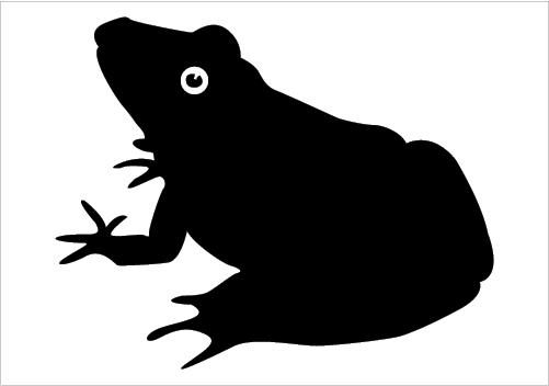 501x352 Silhouette Clipart Frog'06993