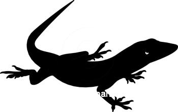 350x222 Silhouettes Clipart Lizard Silhouette 0609 11r