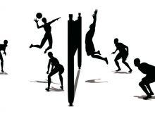 220x165 Animated Volleyball Volleyball Silhouette Stock Footage Video