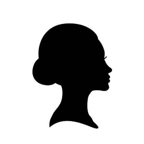 500x500 Dancer Profile Die Cuts, Woman Female Cameo Silhouette, Elegant