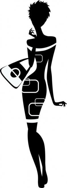 236x655 Female Silhouette Vectors, Coreldraw (.cdr) Files Free Download