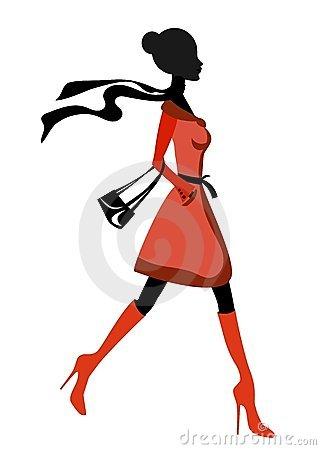 321x450 Classy Lady Walking Clipart
