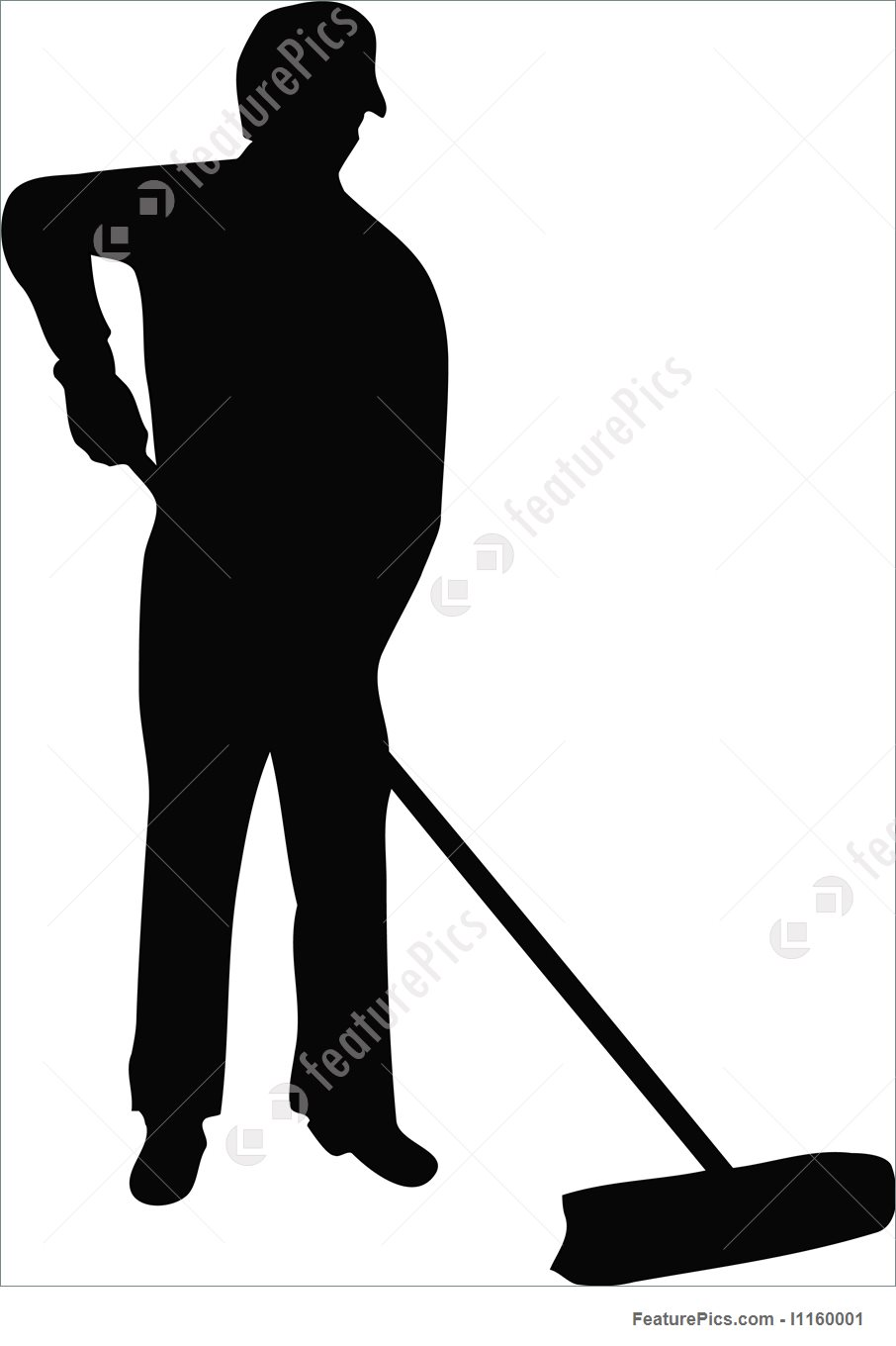 906x1360 Illustration Of Cleaner Man Cleaning
