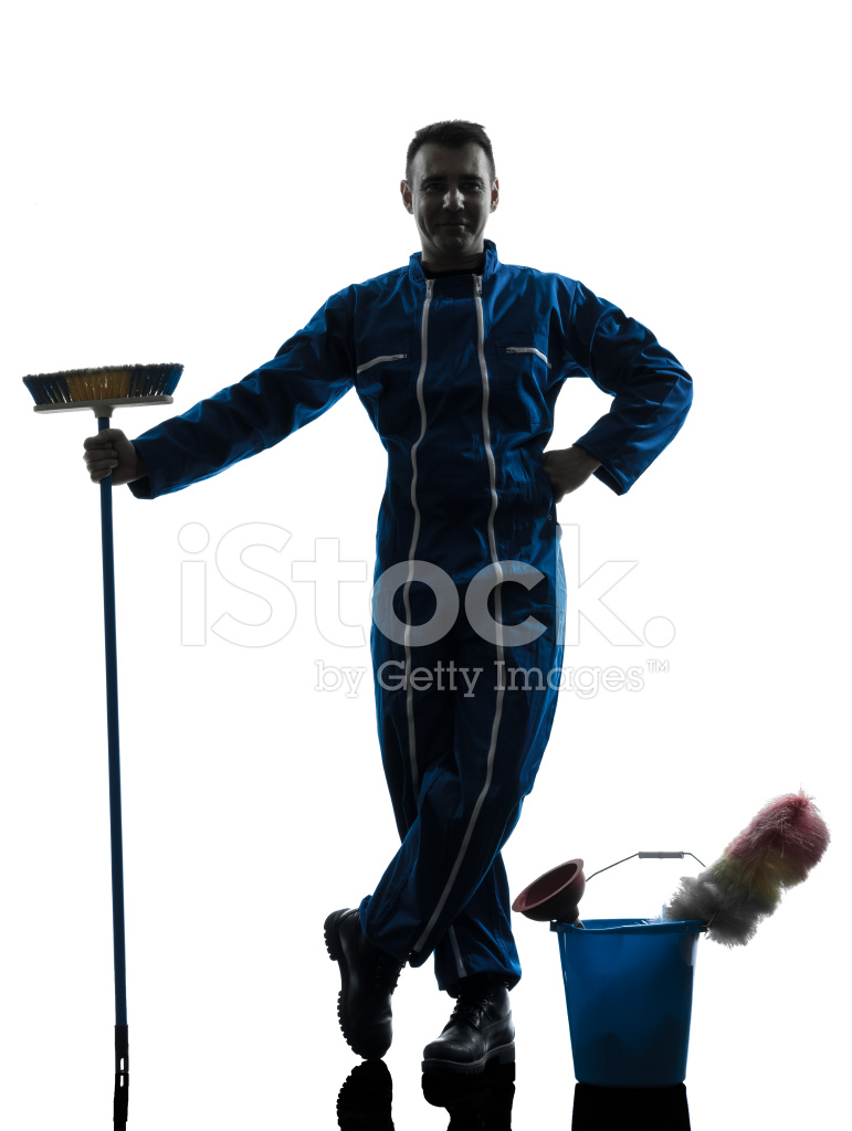 771x1024 Man Janitor Cleaner Cleaning Silhouette Stock Photos