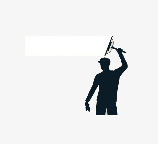 550x500 Silhouette Of Men's Window Cleaning, Male, Clean The Windows