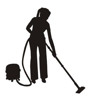 295x330 Cleaning Lady Silhouette 1 Decal Sticker