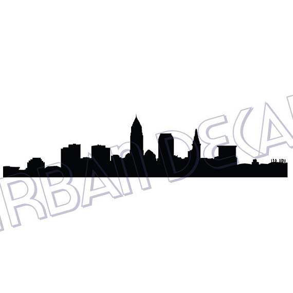 570x570 Cleveland Skyline Wall Decal Vinyl Sticker Free Shipping