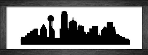 570x214 Dallas Skyline Silhouette Vector Mydrlynx