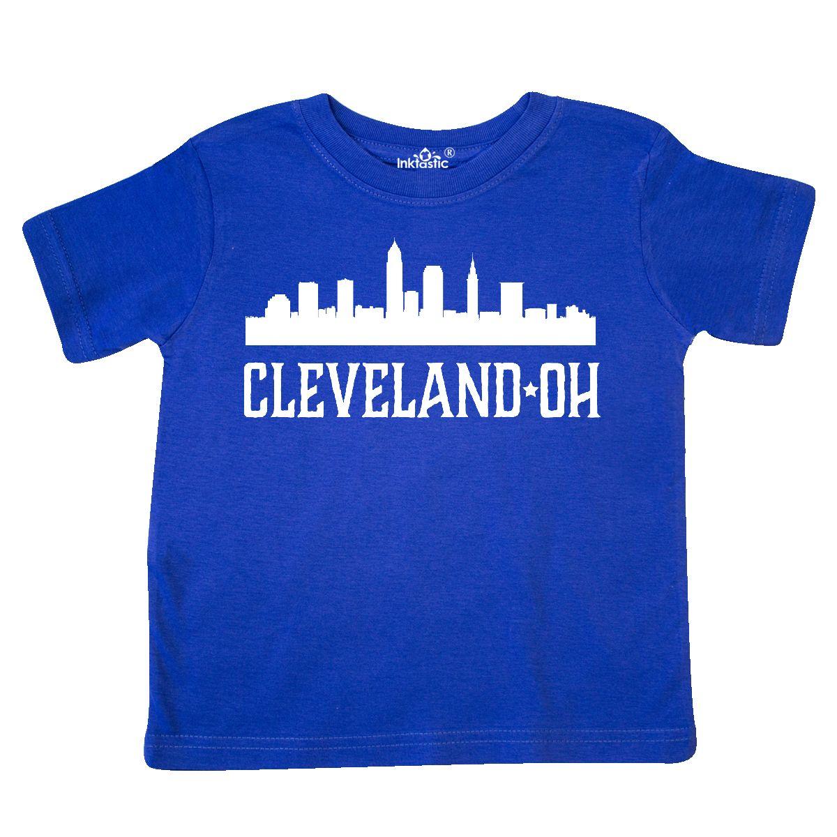 1200x1200 Inktastic Cleveland Ohio Skyline City Silhouette Toddler T Shirt