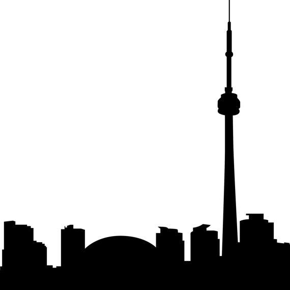 570x570 Toronto Skyline Clipart