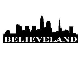 340x270 Believeland Metal Sign