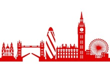 220x147 Buy City Skyline Decal And Get Free Shipping