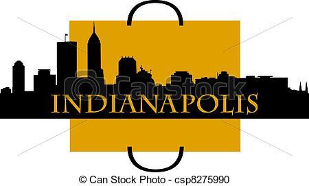 450x271 Indianapolis City Skyline Vector Clip Art Illustrations. 84