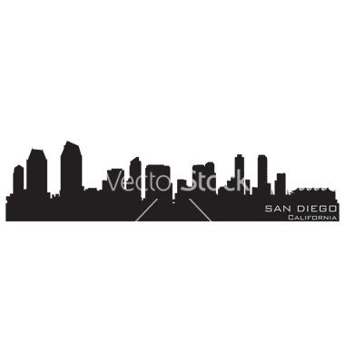 380x400 San Diego Skyline Clipart