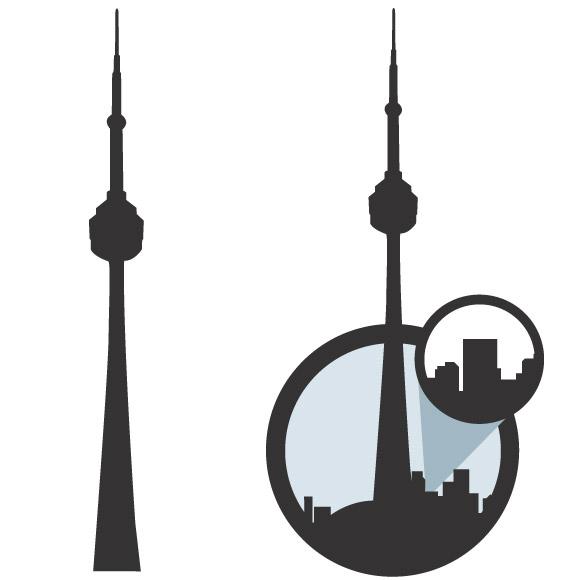 580x580 Skyline Clipart Cn Tower