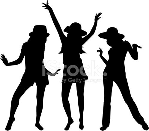 497x439 Women Silhouettes Stock Vector