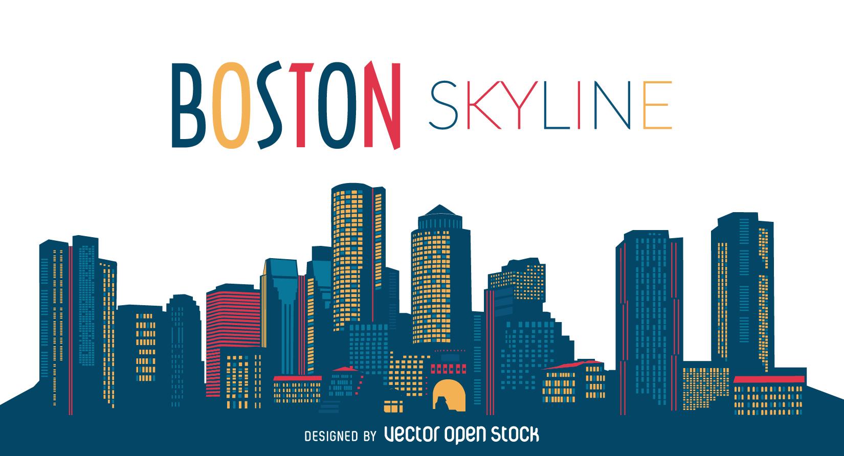 1650x892 Boston Clipart Boston Skyline Clipart