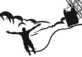 286x200 Bungee Jumping Silhouettes Vector