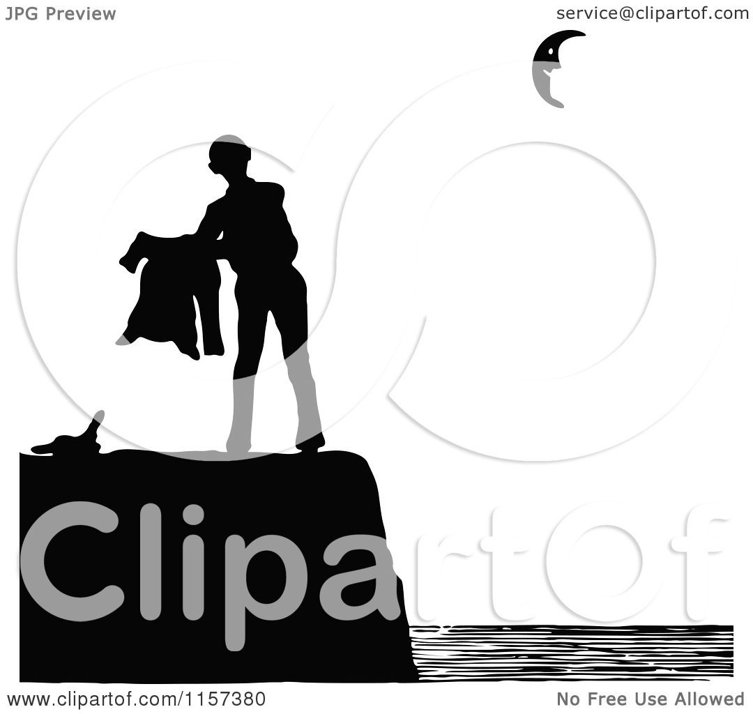 1080x1024 Clipart Of A Silhouetted Couple Man On A Coastal Cliff
