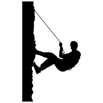 355x355 Rock Climbing Wall Decal Sticker 18