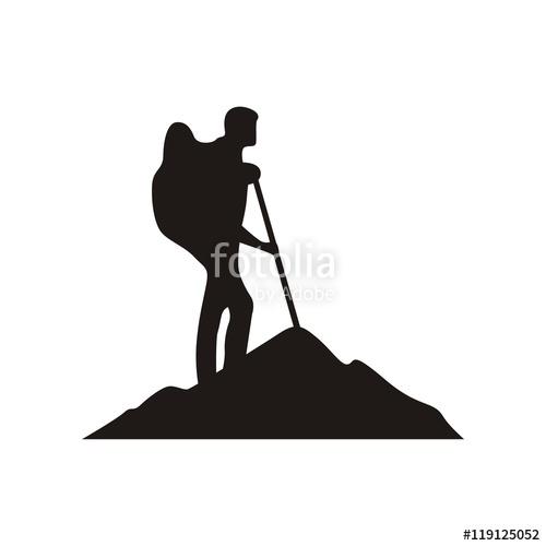 500x500 Mountain Climber Logo Vector Stock Image And Royalty Free Vector
