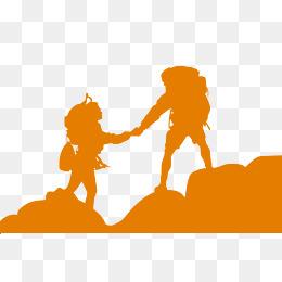 260x260 Outdoor Climbing Climber Silhouette Vector, Outdoor Climbing