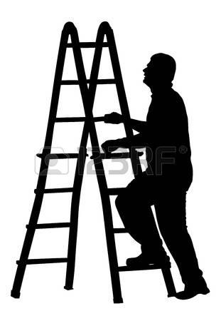 311x450 Clipart Climbing Laddar Silhouette