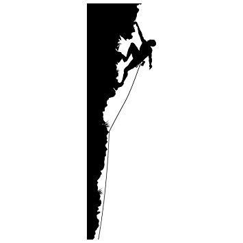 Climbing Mountain Silhouette