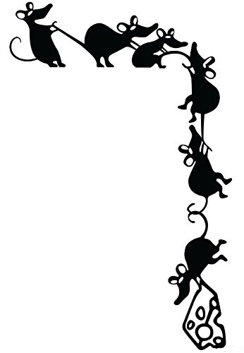 346x500 Hwhd 2 Pcs Funny Climbing Mice Cheese Thieves Rat Silhouette Vinyl